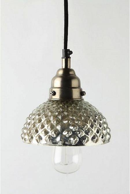 Popular Photo of Mercury Glass Pendant Lights At Anthropologie