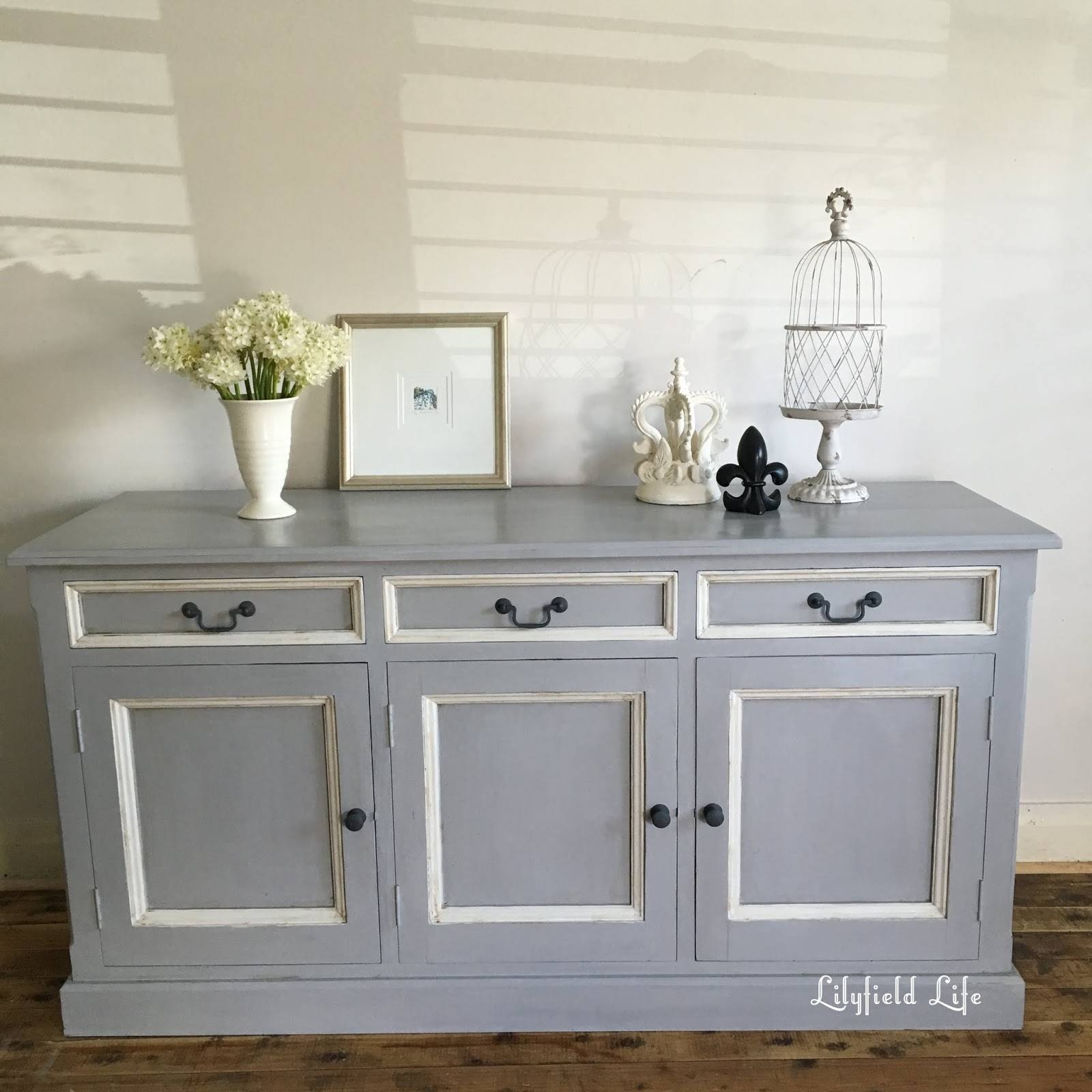 Lilyfield Life: Painted Pine Sideboard Before And After Within Grey Painted Sideboards (#10 of 15)