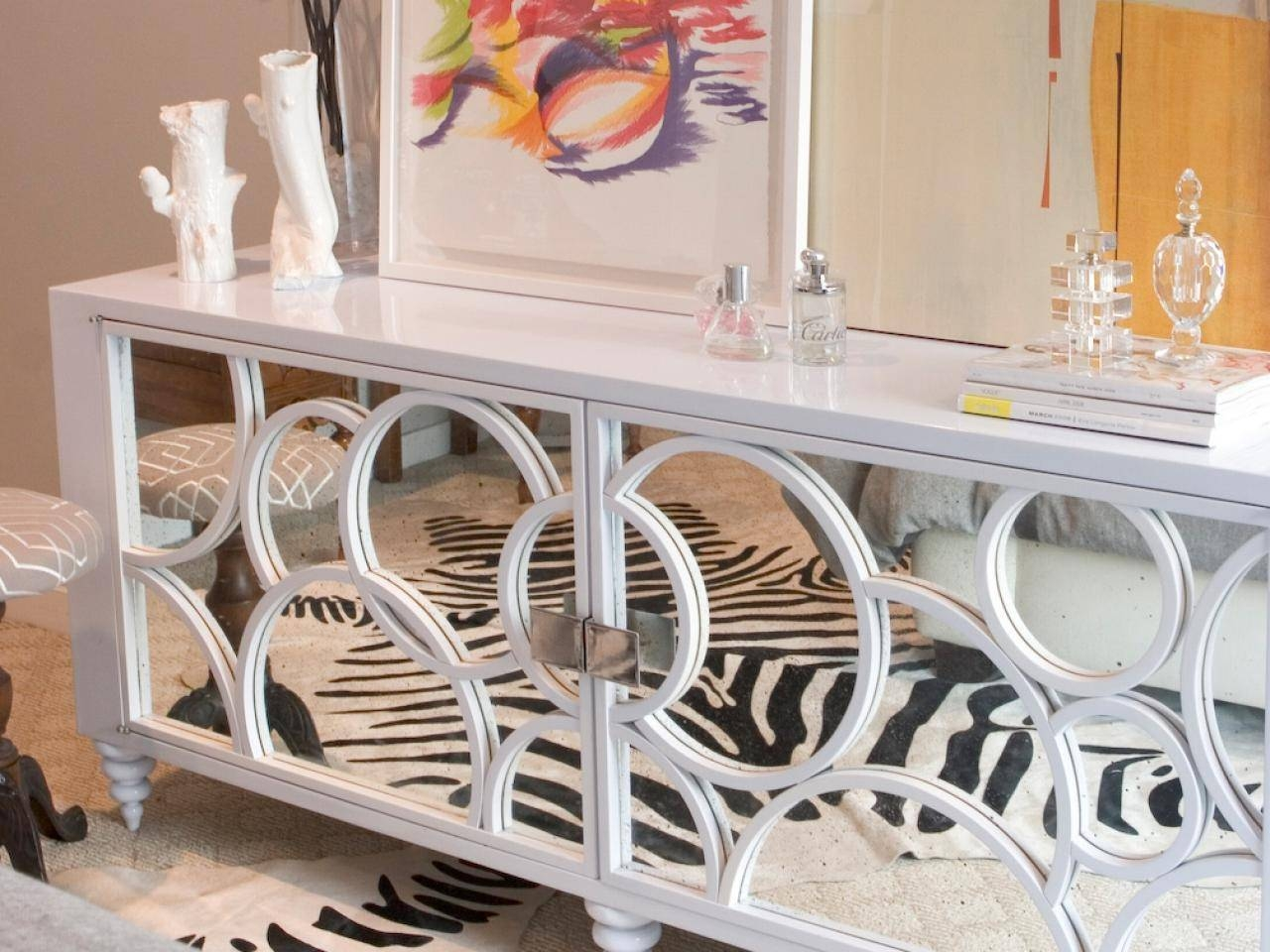 Popular Photo of White Mirrored Sideboards
