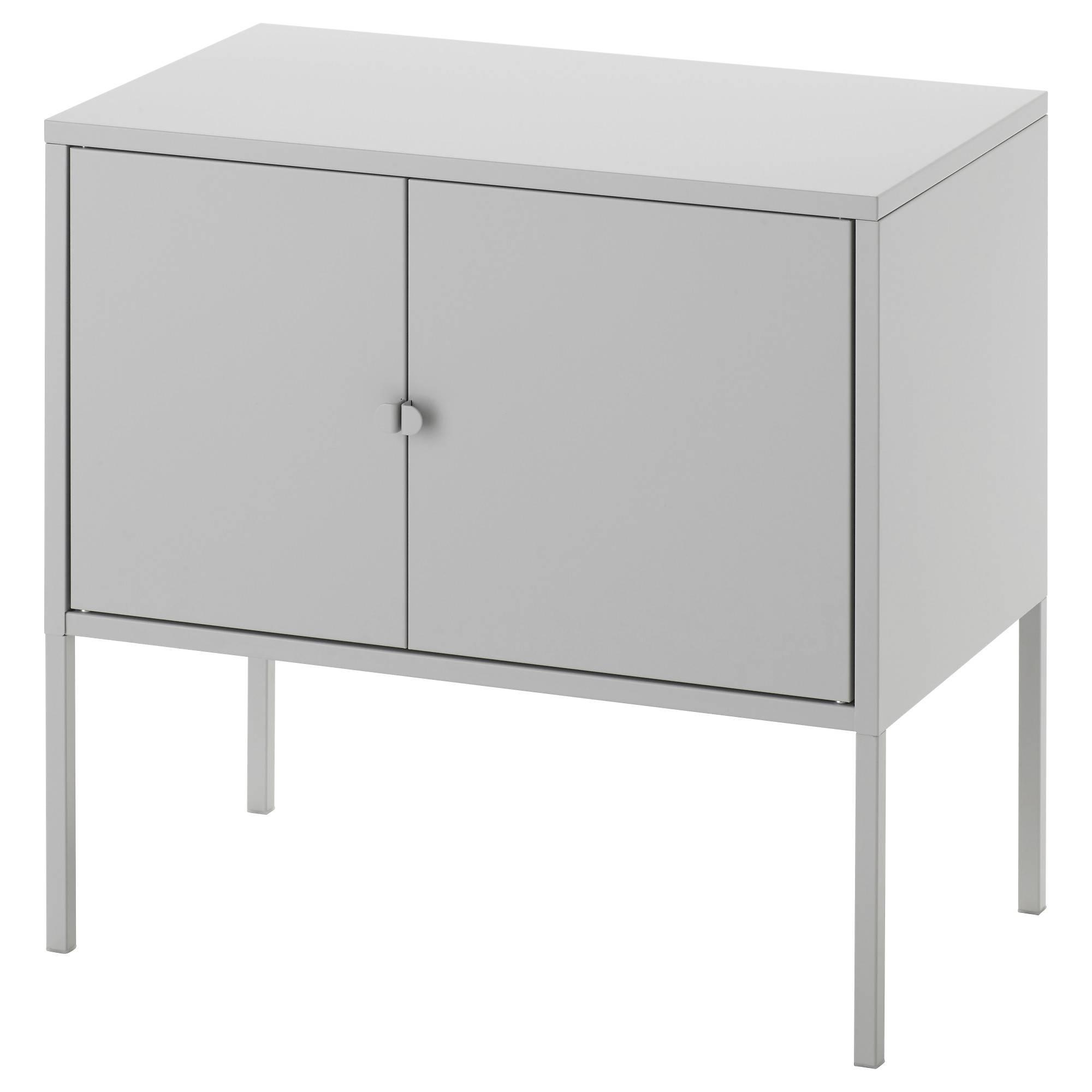 Lixhult Cabinet Metal/grey 60X35 Cm – Ikea Within Metal Sideboard Furniture (#12 of 15)