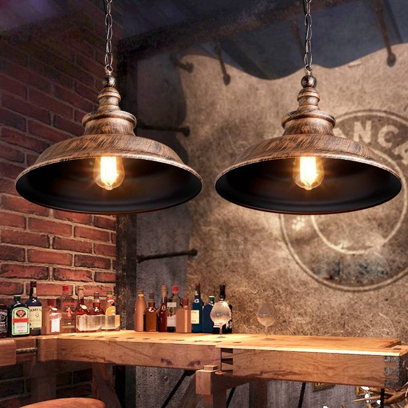 Loft Antique Painting Industrial Pendant Lighting With Regard To Most Popular Vintage Pendant Lights (View 9 of 15)
