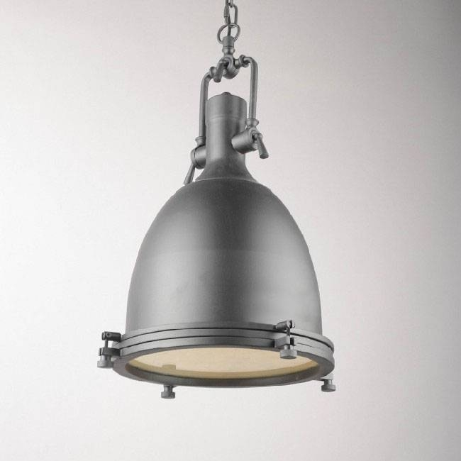 Loft Matte Grey Heavy Metal Pendant Lighting 10304 : Browse For Stainless Steel Pendant Light Fixtures (View 10 of 15)
