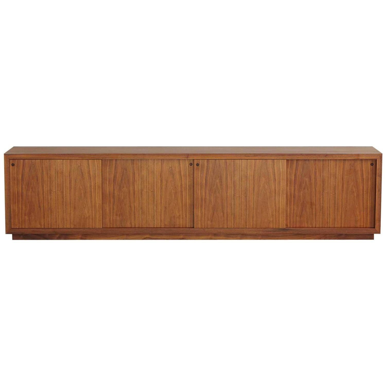 Long And Low Custom Made Walnut Sideboard In The Style Of Ib Kofod In Long Low Sideboards (View 7 of 15)