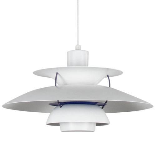 Louis Poulsen Original Ph 5 Modern White Pendant Light: Sample Inside Latest Ph5 Pendant Lamps (#6 of 15)