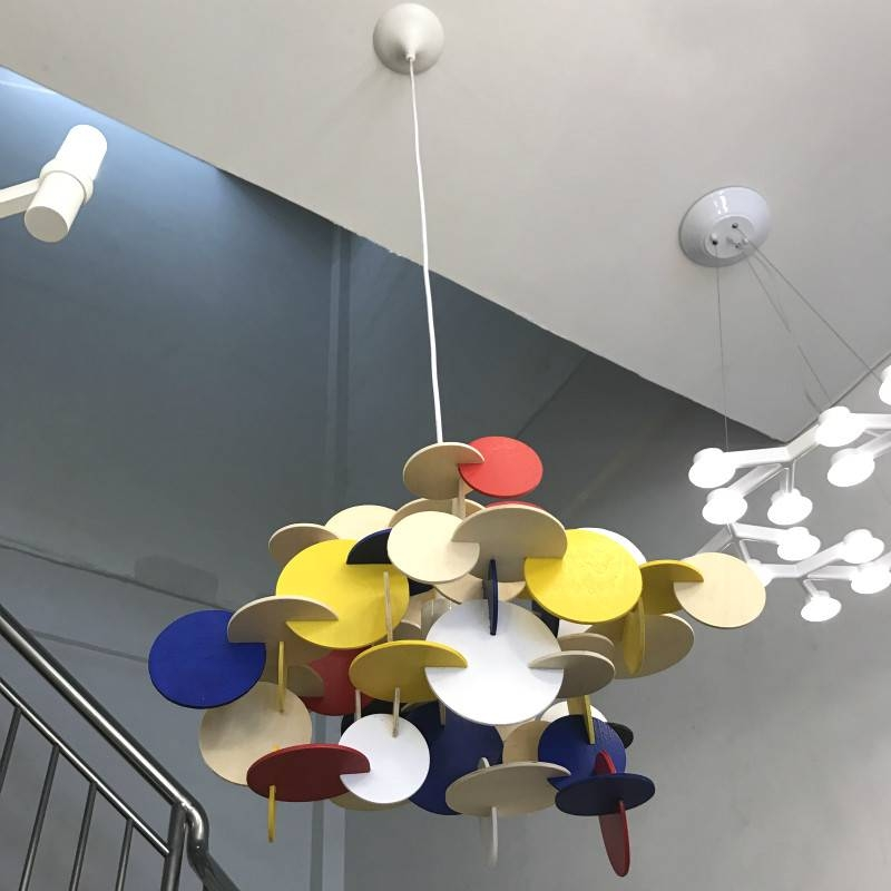 Lovely Creative Building Block Wood Lamp For Kids Bedroom Nordic Intended For Recent Bau Pendant Lights (#10 of 15)