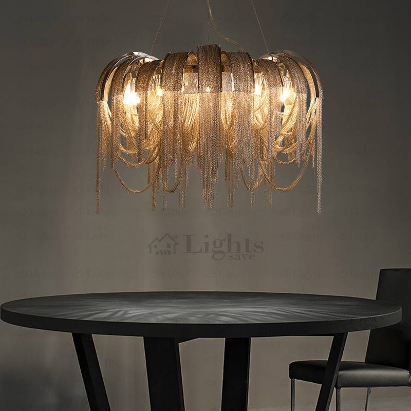 Luxury Tassel Large Pendant Lighting Fixtures For Villa Within Current Large Pendant Lights (#10 of 15)