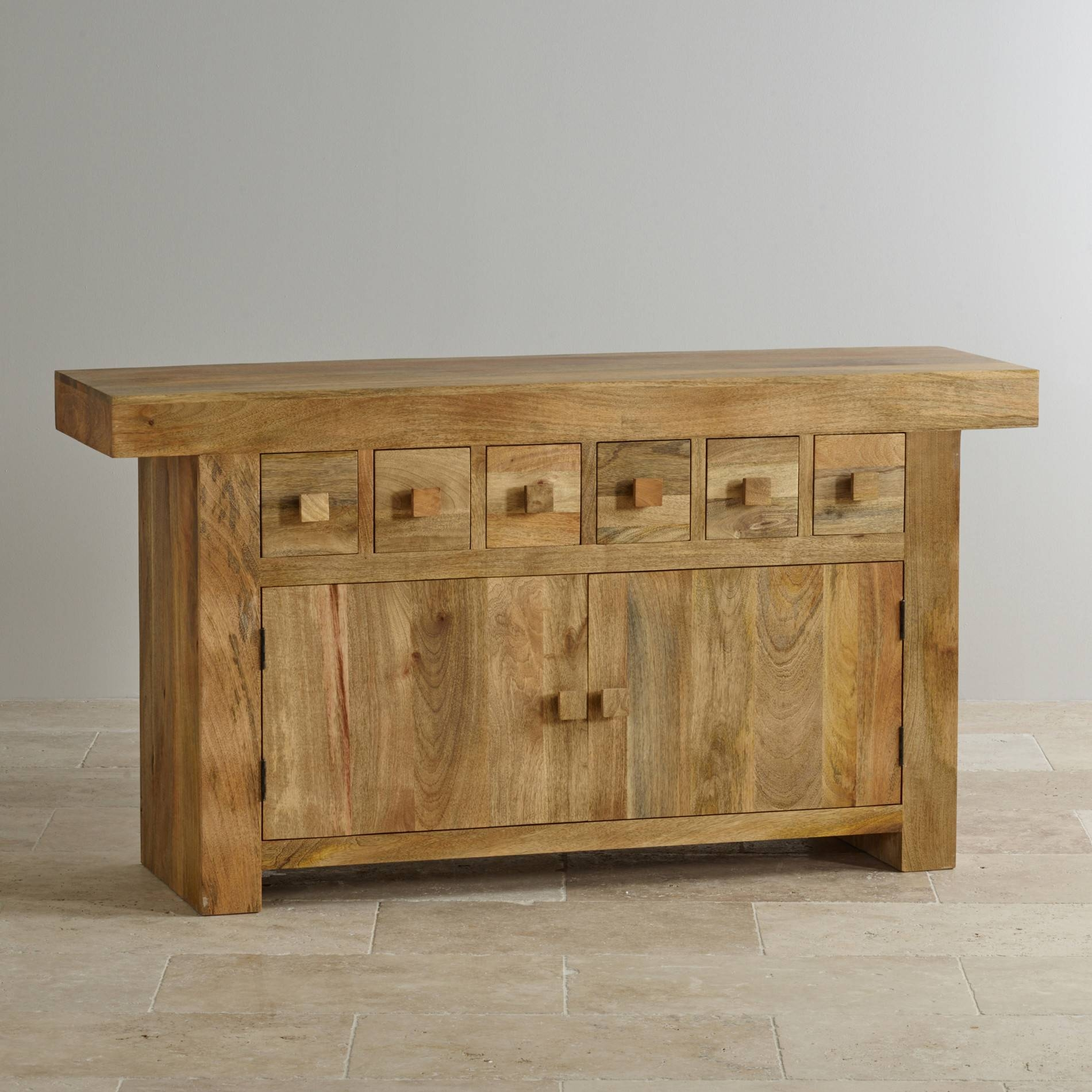 Mantis Light Large Sideboard In Natural Solid Mango Intended For Real Wood Sideboards (#6 of 15)
