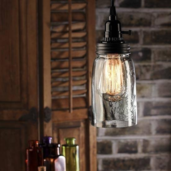 Mason Jar Pendant Lamp Kit – Lamp Making – Basic Craft Supplies Throughout Mason Jar Pendant Lights (View 13 of 15)