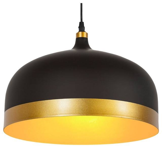 Melaina Pendant Lamp, Black – Modern – Pendant Lighting  Light Inside 2018 Modern Pendant Lighting (#11 of 15)