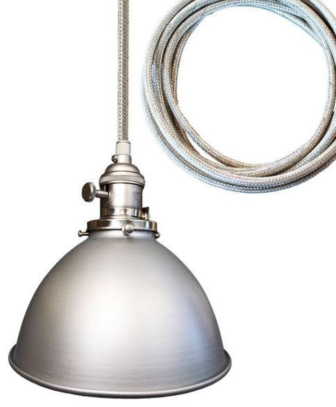 Metal Factory Industrial Stainless Steel Cord Pendant Light Inside Stainless Steel Pendant Light Fixtures (View 14 of 15)