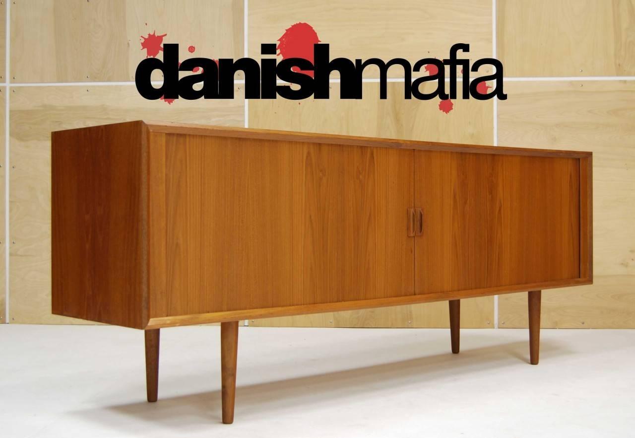 Mid Century Danish Modern Designer Teak Credenza Sideboard Buffet Regarding Mid Century Sideboards (#3 of 15)