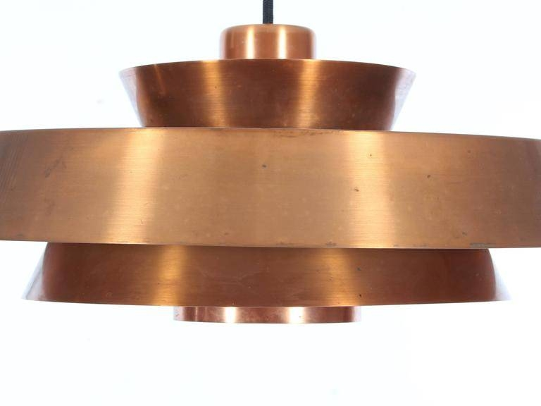 Mid Century Danish Pendant Light In Copper Model Novajo Within Most Recent Danish Pendant Lighting (#10 of 15)