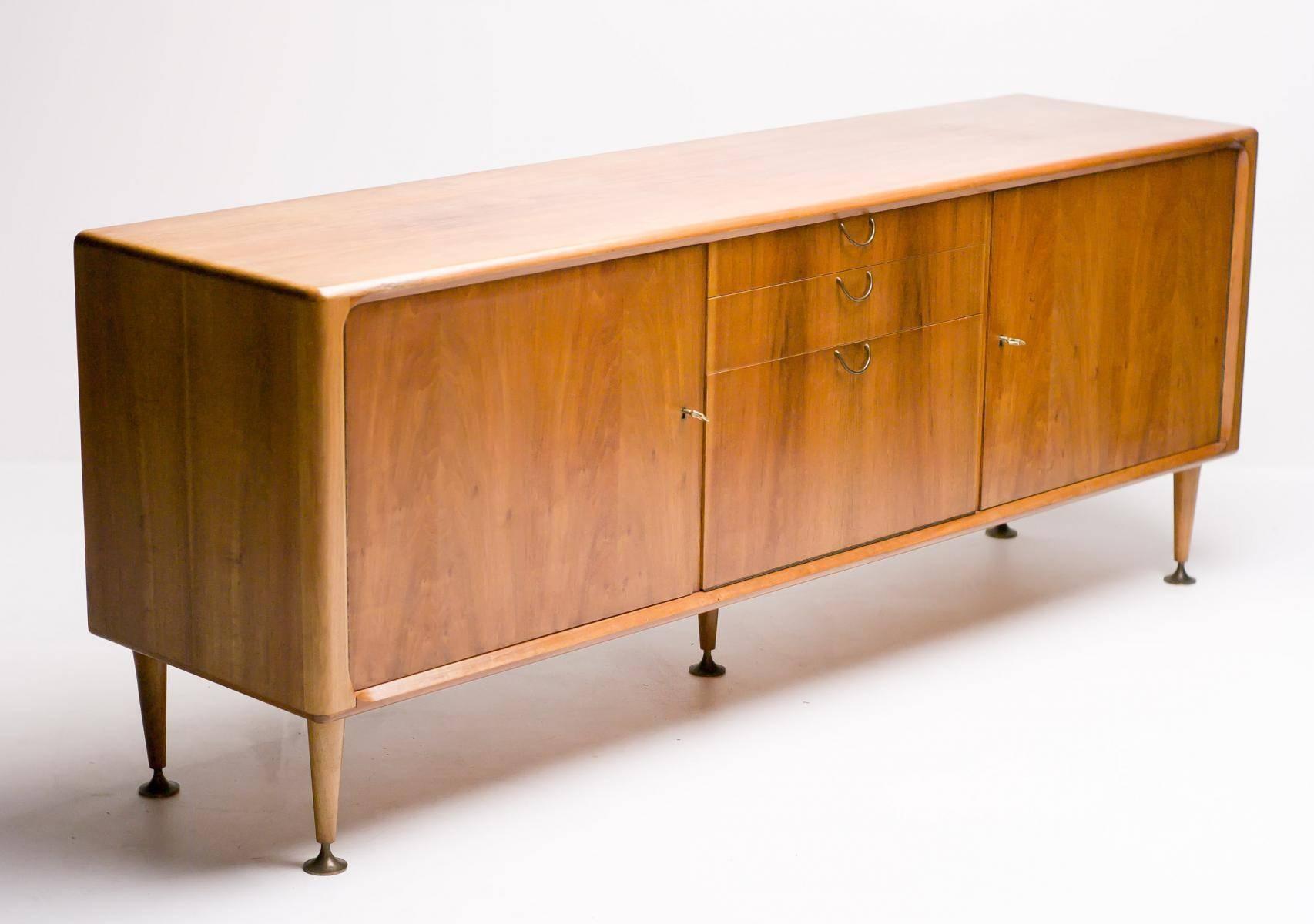 Mid Century Dutch Modern Walnut Sideboarda. A (#11 Of 15)