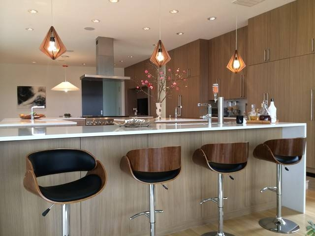 Mid Century Modern Pendant Lights And Bar Stools – Modern Inside 2018 Modern Kitchen Lighting Pendants (#9 of 15)