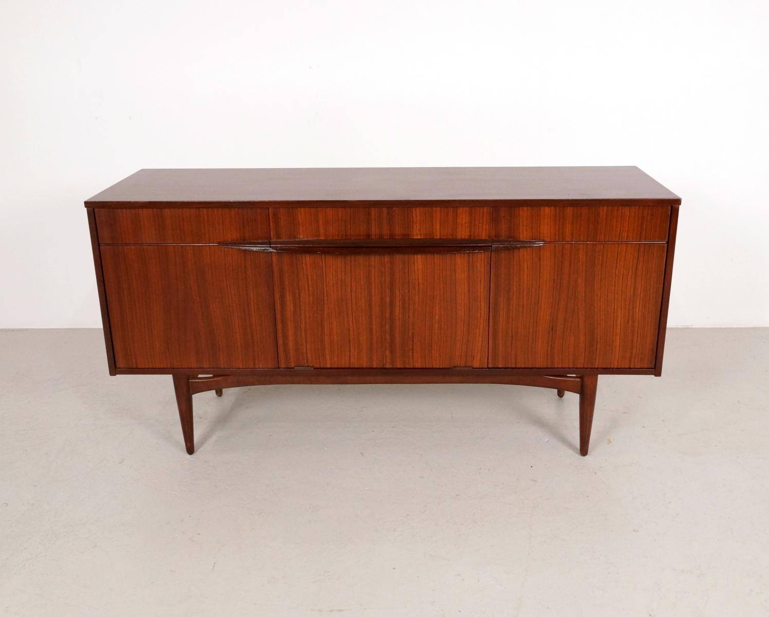 Mid Century Sideboard In Dark Teak, 1960S For Sale At Pamono Inside Mid Century Sideboards (#10 of 15)