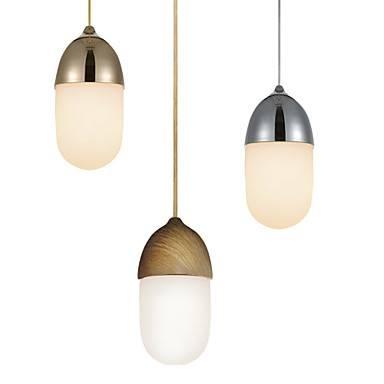 Mini Acorn Pendant Lamp/1 Light/mordern Simplicity/golden/chrome Intended For 2018 Acorn Pendant Lights (#12 of 15)