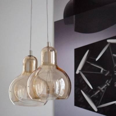 Mini Bowl Classic Glass Charming Designer Pendant Lighting Clear Regarding Most Recent Designer Glass Pendant Lights (#13 of 15)