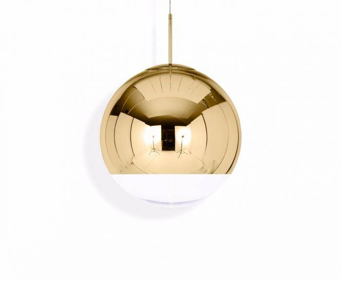 Mirror Ball Gold 50 Pendant | Pendant Lights | Tom Dixon Pertaining To Most Recently Released Tom Dixon Brass Pendants (#11 of 15)