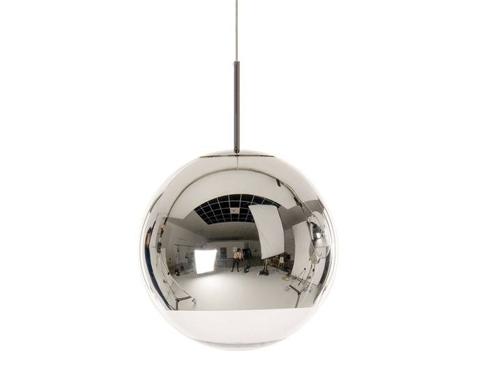 Mirror Ball Pendant Light – Hivemodern Within Latest Mirror Pendant Lights (#9 of 15)