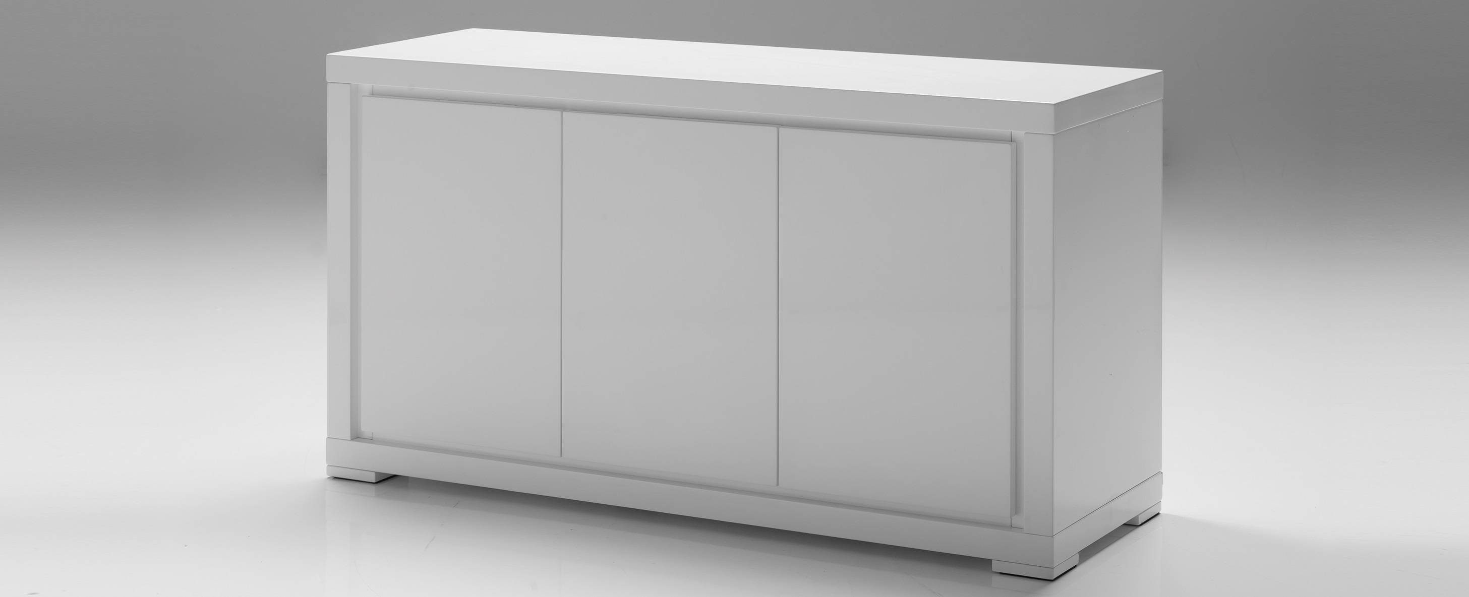 Mobital Maze 3 Door Dining Buffet In High Gloss White – Beyond Stores With Gloss White Sideboards (View 7 of 15)