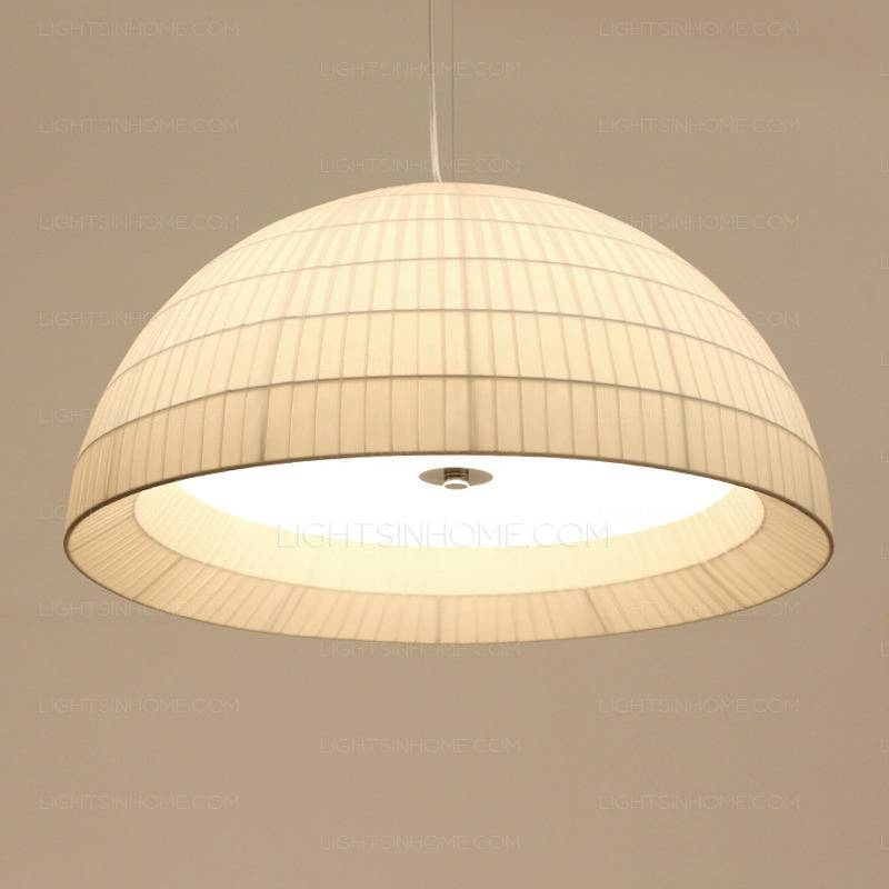 Modern 3 Light Painting Fabric Shade Pendant Lights Kitchen Within 2018 Fabric Pendant Lighting (#10 of 15)