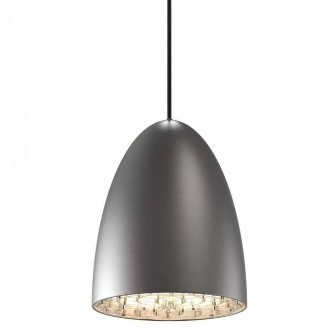 Modern Ceiling Pendant Light In Brushed Steel Finish Double Insulated In Stainless Steel Pendant Light Fixtures (View 12 of 15)