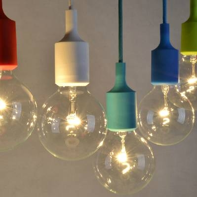 Modern Colorful E27 Silicone Rubber Pendant Lights Diy Art Hanging Throughout Recent Rubber Pendant Lights (#9 of 15)