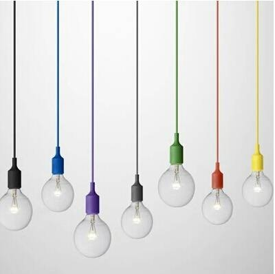 Modern Colorful E27 Silicone Rubber Pendant Lights Diy Art Hanging Within Most Popular Rubber Pendant Lights (#10 of 15)