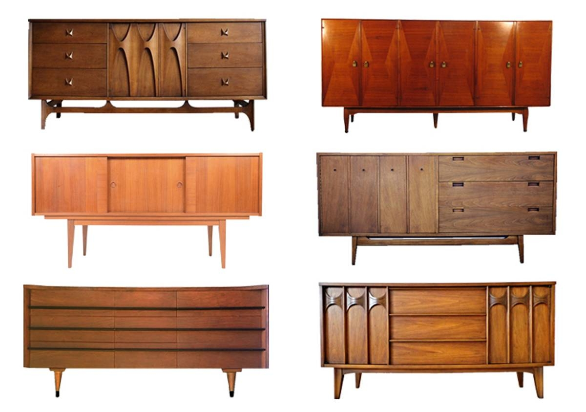 Modern Credenzas Sideboards Mid Century Danish Modern Teak Within Eames Sideboards (#11 of 15)