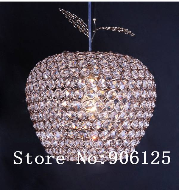 Modern Crystal Pendant Light Gold / Silver Apple Pendant Light Regarding Most Current Apple Pendant Lights (View 9 of 15)