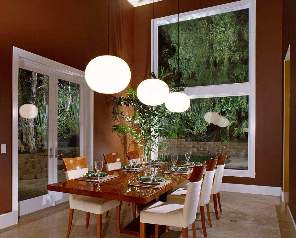 Modern Dining Room With Pendant Light & French Doors | Zillow Digs Within Recent Glo Ball Pendants (#14 of 15)