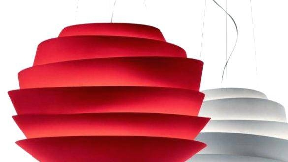 Modern Furniture Pendant Lamp Red Glass Lights Drum Shade Light Pertaining To Most Popular Large Red Pendant Lights (View 10 of 15)