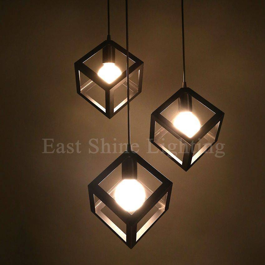Modern Geometry Box Pendant Lights For Home Cute Pendant Lamps Pertaining To Most Up To Date Box Pendant Lights (#12 of 15)