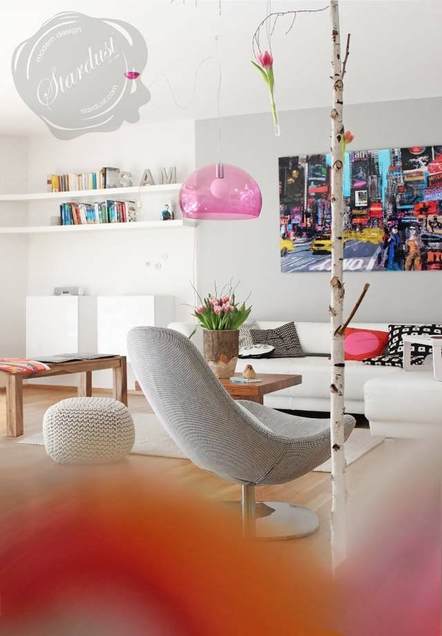 Modern Interior Design: Kartell Fly Pink Pendant Light Throughout Most Up To Date Kartell Fly Pendants (#13 of 15)