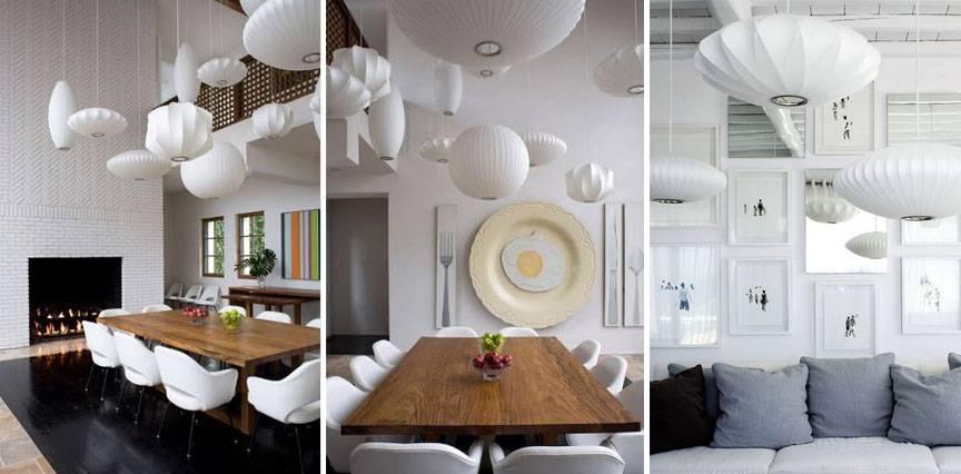 Modern Interior Design: Mid Century Modern Lights – Retro Lighting Intended For Newest George Nelson Saucer Pendants (#8 of 15)