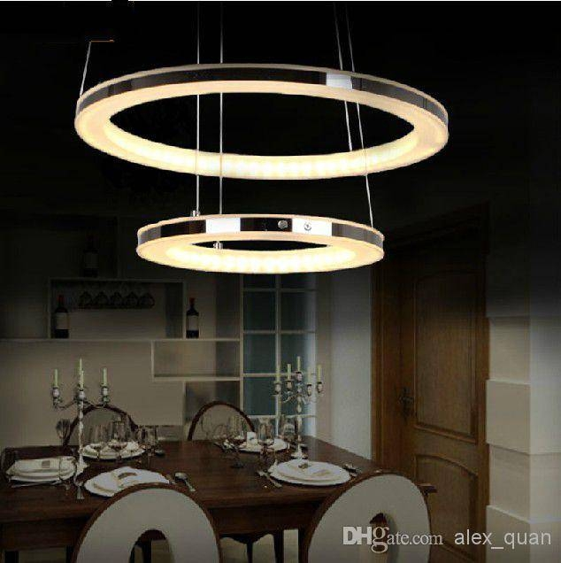 Modern Led Chandelier Acrylic Pendant Lamp Living Room Dining Room Regarding Recent Modern Pendant Lamps (#12 of 15)
