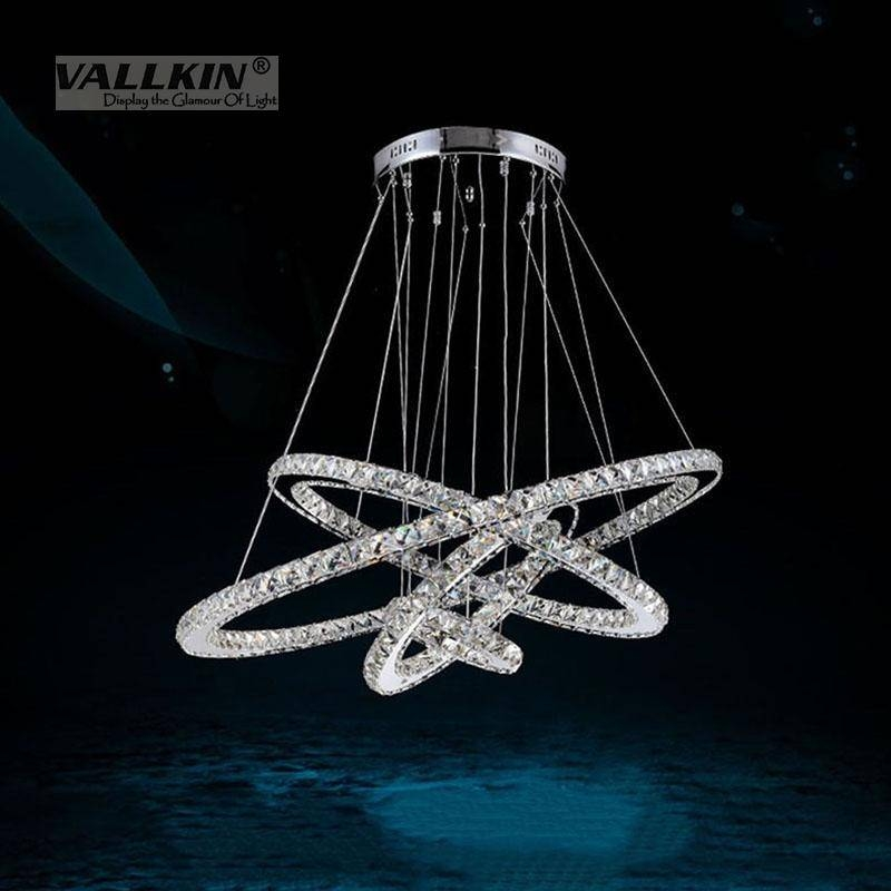 Modern Led Crystal Chandeliers Pendant Lights Ceiling Hanging Pertaining To 2018 Crystal Led Pendant Lights (View 12 of 15)