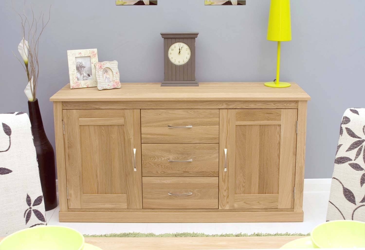 Modern Light Oak Sideboards And Console Table | Zurleys For Large Modern Sideboards (View 9 of 15)