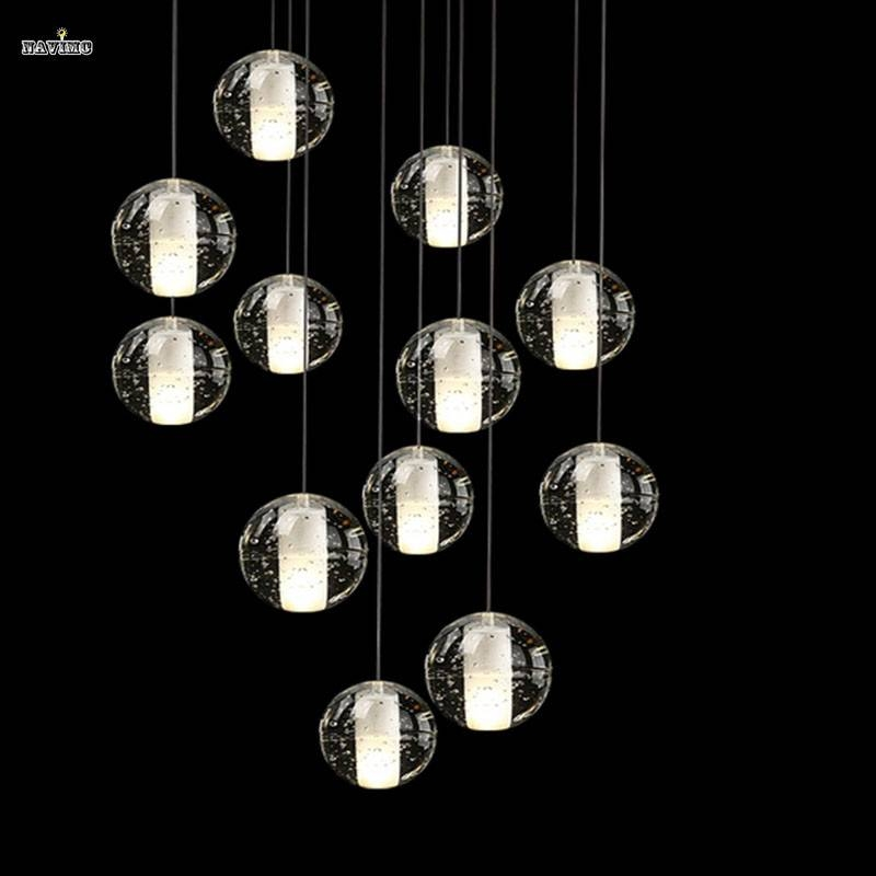 Modern Magic Ball Led Crystal Bubble Glass Pendant Light For For Most Recently Released Bubble Pendant Lights (#14 of 15)