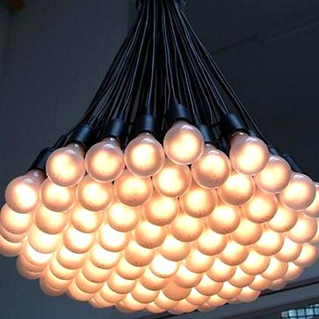 Modern Multi Matte Bulbs Pendant Lighting 10506 : Browse Project With Best And Newest Multi Bulb Pendant Lights (View 14 of 15)