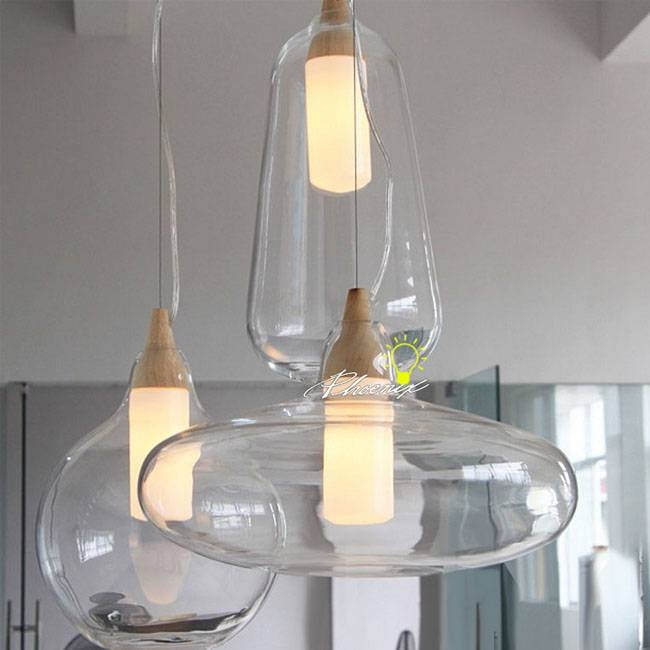 Modern Nu Clear Glass Pendant Lighting 8903 : Browse Project For 2018 Modern Glass Pendants (View 4 of 15)