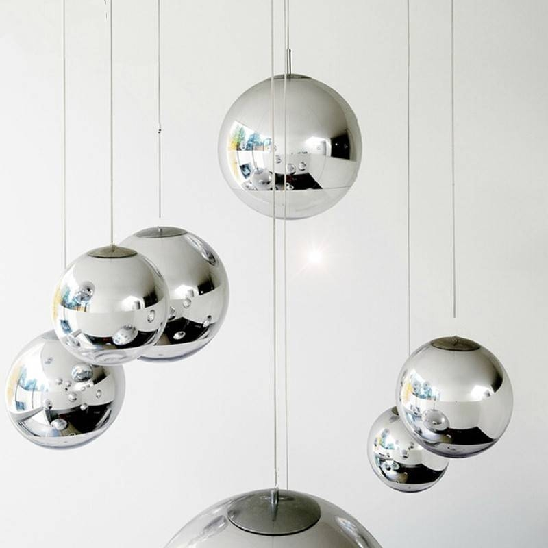 Modern Tom Dixon Mirror Glass Ball Pendant Lights Restaurant Within Most Popular Mirror Pendant Lights (#12 of 15)