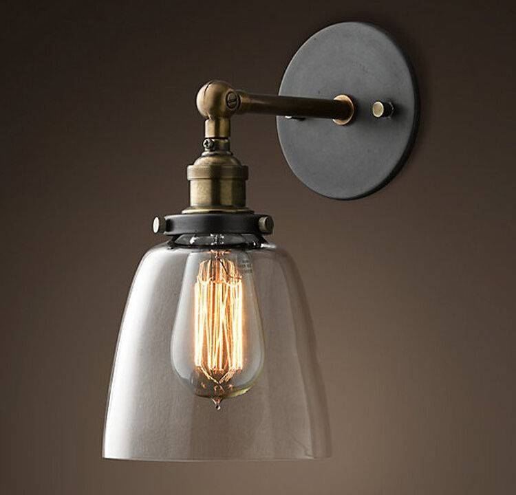 Modern Vintage Pendant Lights Industrial Wall Lamp Sconce Light With Regard To Best And Newest Clock Pendant Lights (#11 of 15)