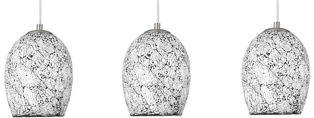 Modern White Mosaic Glass 3 Lamp Pendant Light 8069 3Wh With Regard To Most Recently Released Mosaic Pendant Lights (#5 of 15)