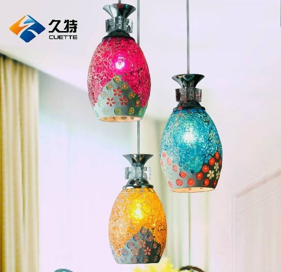 Mosaic Pendant Light Mosaic Mini Pendant Light With Cylinder Gl In In Recent Mosaic Pendant Lights (#8 of 15)