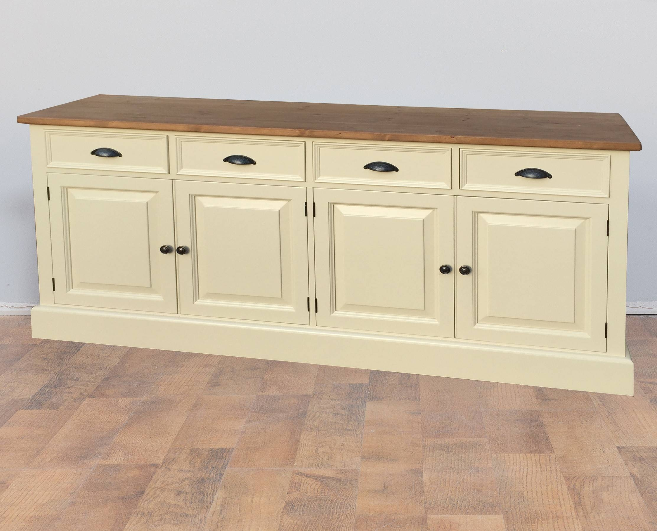 Mottisfont Solid Pine Painted Large Welsh Dresser Sideboard Throughout Cream Sideboards (#8 of 15)