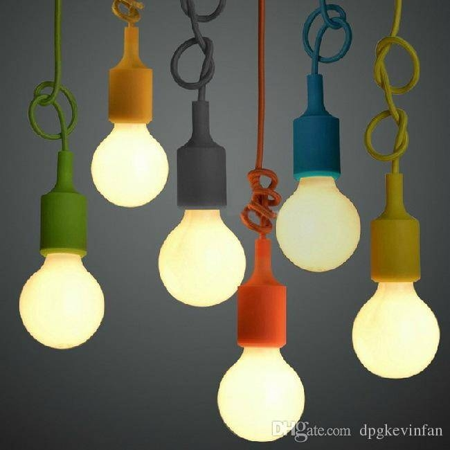 Muuto E27 Pendant Lamp Multi Colors Pendant Light Art Decor Modern Regarding 2018 Coloured Pendant Lights (View 5 of 15)
