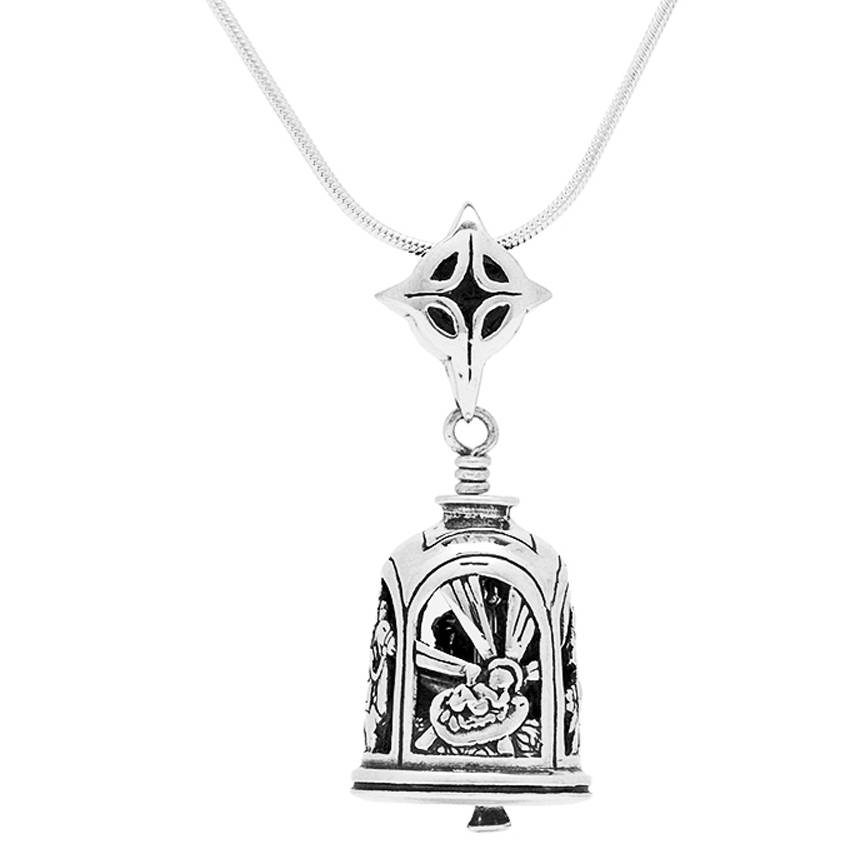 Nativity Bell Pendant – The Bell Collection Pendants Intended For Latest Bell Pendants (#9 of 15)