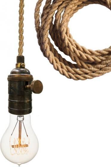 Nautical Ship Rope Bare Bulb Pendant Light – Industrial – Pendant With Industrial Bare Bulb Pendant Lights (#14 of 15)