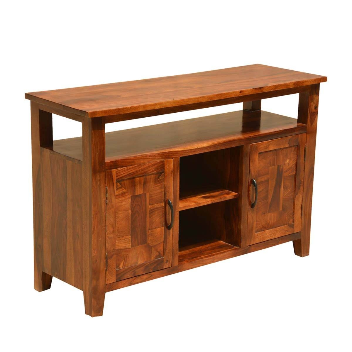 Nevada Traditional Solid Wood Buffet Rustic Sideboard Server Regarding Real Wood Sideboards (View 14 of 15)